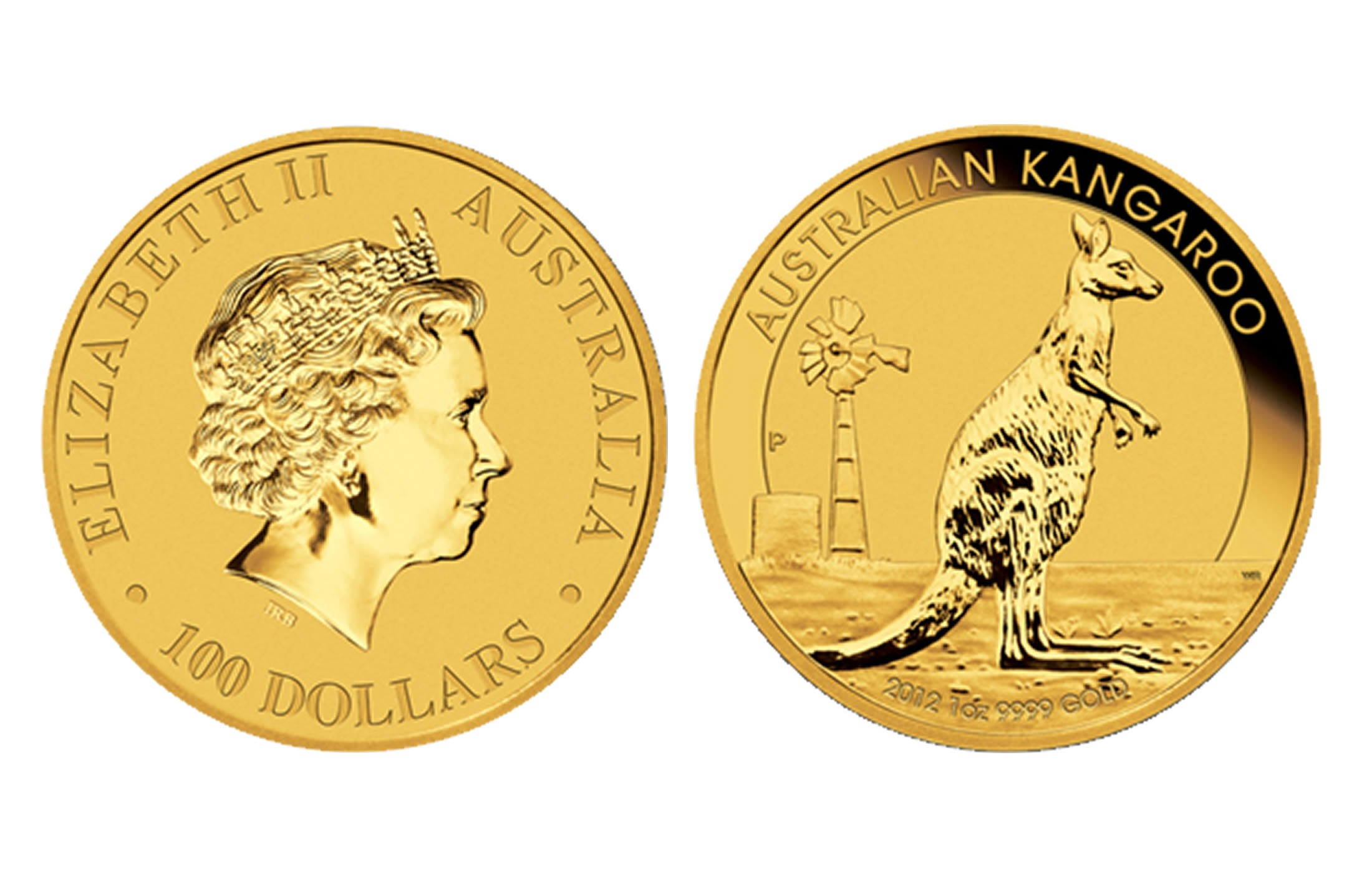 Australian Gold Kangaroo 1 Oz 2012 Amp Prior 100