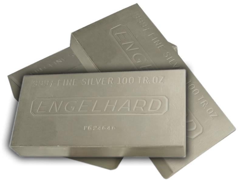 Engelhard Silver Bar 100 Oz 999 Fine Silver Bars