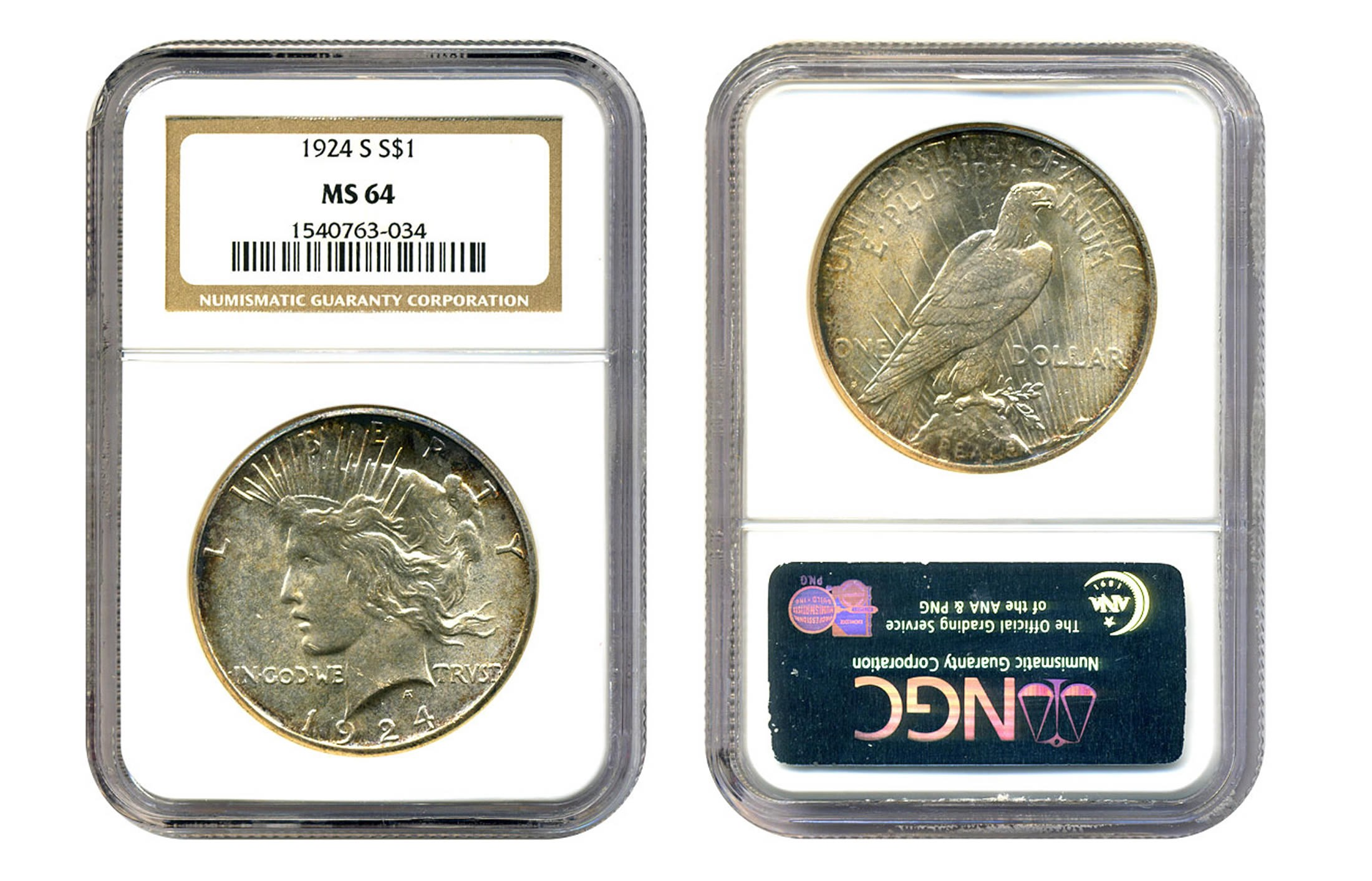 peace silver dollar coins 1 oz 1 face value ms64