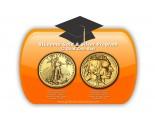 2 Coin Set: 1 x Gold Eagle Coin, 1 x Gold Buffalo Coin - 1 oz. (2012 & Prior) ~ $50 Face Value
