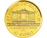 Austrian Gold Philharmonic - 1/10 oz. (2012 & Prior) ~ €10 Face Value