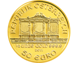 Austrian Gold Philharmonic - 1/2 oz. (2012 & Prior) ~ €50 Face Value