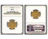 Liberty Half Eagle Coins - 0.24187 oz. (1839-1907) ~ $5 Face Value  MS-62