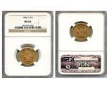 Liberty Half Eagle Coins - 0.24187 oz. (1839-1907) ~ $5 Face Value  MS-64