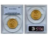 Liberty Eagle Coins - 0.48375 oz. (1838-1907) ~ $10 Face Value  MS-63