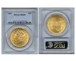 Liberty Double Eagle Coins - 1 oz. (1849-1907) ~ $20 Face Value  MS-65