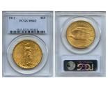 Saint Gaudens Double Eagle Coins - 1 oz. (1907 - 1933) ~ $20 Face Value  MS-62