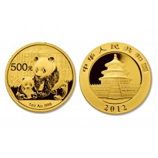 Chinese Gold Panda - 1 oz. (2012 & Prior) ~ 500 Yuan Face Value