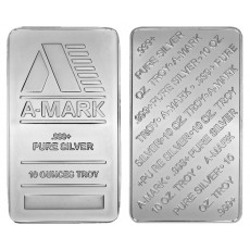 A-Mark 10 oz Silver Bar