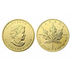 Canadian Gold Maple Leaf  - 1 oz. (2012 & Prior) ~ $50 Face Value