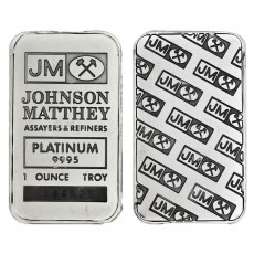 1 oz Johnson Matthey Platinum Bar .9995 Fine (W/assay)