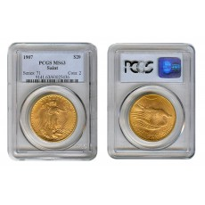 Saint Gaudens Double Eagle Coins - 1 oz. (1907 - 1933) ~ $20 Face Value  MS-63