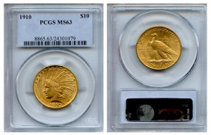 Indian Eagle Coins - 0.48375 oz. (1907-1933) ~ $10 Face Value  MS-63