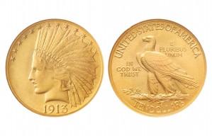 Indian Eagle Coins - 0.48375 oz. (1907-1933) ~ $10 Face Value
