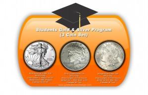 3 Coin Set: 1 x Silver Eagle Silver Coin, 1 x Peace Dollar, 1 x Morgan Silver Dollar - 1 oz. (2012 & Prior, 1921, 1925) ~ $1 Face Value