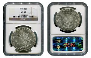 Morgan Silver Dollar Coins - 1 oz. (1878, 1904, 1921) ~ $1 Face Value  MS-63
