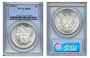 Morgan Silver Dollar Coins - 1 oz. (1878, 1904, 1921) ~ $1 Face Value  MS-65