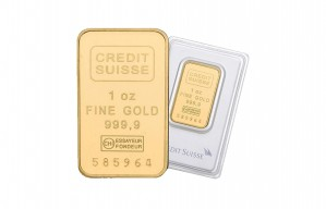 Credit Swiss 24-Karat 1 oz. Gold Bar