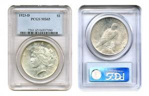 Peace Silver Dollar Coins - 1 oz. (1921, 1935, 1964) ~ $1 Face Value  MS-65