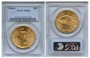 Saint Gaudens Double Eagle Coins - 1 oz. (1907 - 1933) ~ $20 Face Value  MS-64