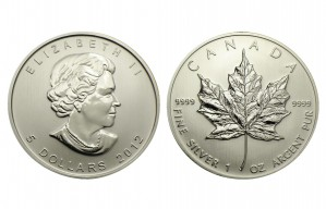 Silver Canadian Maple Leaf - 1 oz. (2012 & Prior) ~ $5 Canadian Face Value