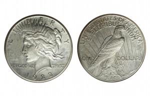 Peace Silver Dollar Coins - 1 oz. (1921, 1935, 1964) ~ $1 Face Value