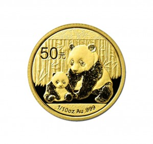 Chinese Gold Panda - 1/10 oz. (2012 & Prior) ~ 50 Yuan Face Value