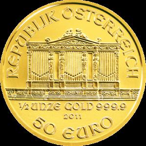 Austrian Gold Philharmonic - 1/2 oz. (2012 & Prior) ~ €50 Face Value