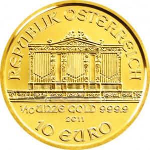 Austrian Gold Philharmonic - 1/10 oz. (2012 & Prior) ~ €10 Face Value