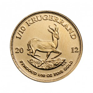South African Krugerrand - 1/10 oz. (2012 & Prior) ~ 1/10 KR Face Value