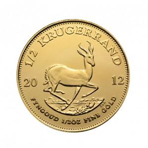 South African Krugerrand - 1/2 oz. (2012 & Prior) ~ 0.50 KR Face Value