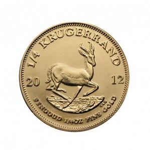 South African Krugerrand - 1/4 oz. (2012 & Prior) ~ 0.25 KR Face Value