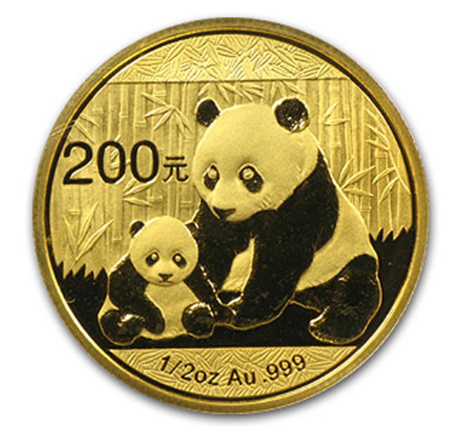 Chinese Gold Panda 1 2 Oz 2017