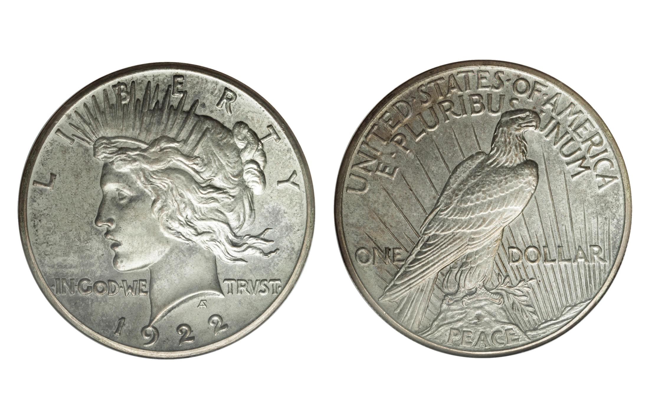 Peace Silver Dollar Coins 1 Oz 1921 1935 1964 Face Value